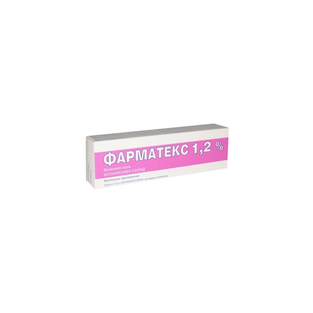 Pharmatex 12 Benzalkonium Chloride 72gr Vaginal Cream